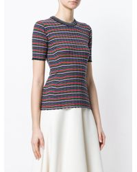 Pringle of Scotland - Multicolor Ribbed Striped-knit Top - Lyst