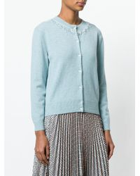 Marc Jacobs - Blue Beaded Crew Neck Cardigan - Lyst