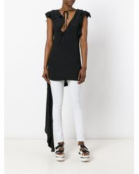 Marni - Black Asymmetric Draped Top - Lyst