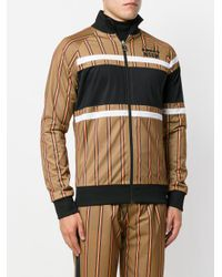 MSGM - Brown Striped Bomber Jacket for Men - Lyst