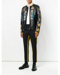 Dolce & Gabbana - Black Stripe Detail Trousers for Men - Lyst