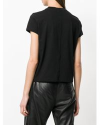 Rick Owens Black Cropped T-shirt