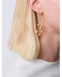 Marie-hélène De Taillac - Metallic 22kt Gold Cascading Flowers Earrings - Lyst