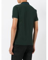 Sun 68 - Green Contrast Collar Polo Shirt for Men - Lyst