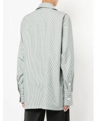 Christopher Esber - Black Oversized Tuxedo Wrap Shirt - Lyst