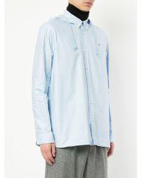 Undercover - Blue Hooded Shirt for Men - Lyst