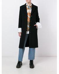 Alexander Wang - Black Single Breasted Coat - Lyst