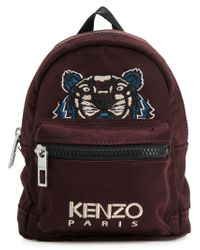KENZO - Red Mini Tiger Backpack for Men - Lyst