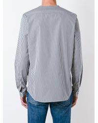 Marni - Blue Striped V-neck Shirt for Men - Lyst