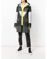 Henrik Vibskov - Green Colour Block Buttoned Coat - Lyst
