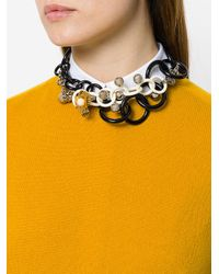 Marni - Black Acrylic Multi-chain Necklace - Lyst