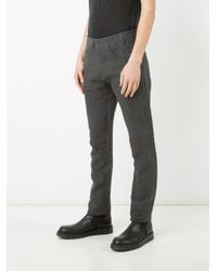 Label Under Construction - Gray Regular Trousers for Men - Lyst