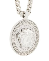 Versace - Metallic Medusa Medallion Necklace for Men - Lyst