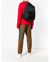 MSGM - Black Classic Logo Backpack for Men - Lyst