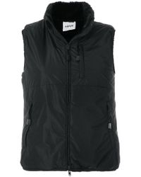 Aspesi - Black Zipped Gilet - Lyst