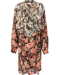 Faith Connexion - Multicolor Printed Shirt Dress - Lyst