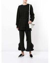 Goen.J - Black Cropped Ruffled Trousers - Lyst