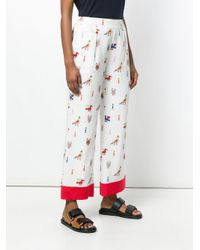 Chinti & Parker - White Aztec Print Trousers - Lyst