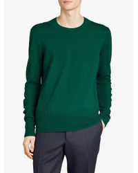 Burberry - Green Check Detail Jumper for Men - Lyst