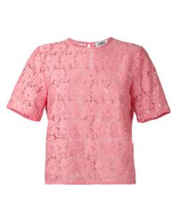 Sonia by Sonia Rykiel | Pink Embroidered T-shirt | Lyst