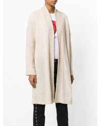 Zadig & Voltaire - Natural Distressed Mid-length Cardigan - Lyst