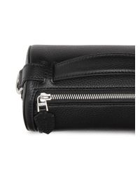 Burberry Black The Leather Barrel Bag