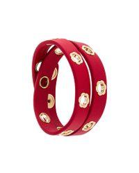 Ferragamo - Red Flower Wrap Bracelet - Lyst