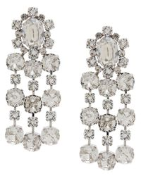 Ca&Lou - Metallic Crystal Embellished Earring - Lyst