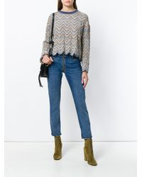 MiH Jeans - Multicolor Woman Arlo Scalloped Crochet-knit Merino Wool-blend Sweater Mustard - Lyst