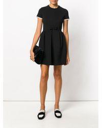 Miu Miu Black Fit And Flare Dress