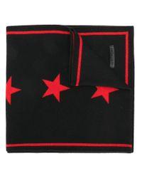 Givenchy - Black Star Knit Scarf - Lyst