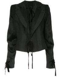 Ann Demeulemeester - Black Carlyle Ribbon Detail Jacket - Lyst