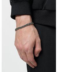 Emanuele Bicocchi - Metallic Thin Braided Bracelet for Men - Lyst