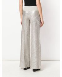 Rick Owens Lilies - Multicolor Metallic Effect Flared Trousers - Lyst