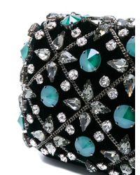 Rodo - Emerald Green Velvet Tresor Clutch W/crystals - Lyst