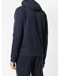 Emporio Armani Blue Zipped Hoodie for men