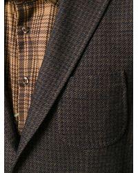 Etro   Brown Houndstooth Pattern Blazer for Men   Lyst
