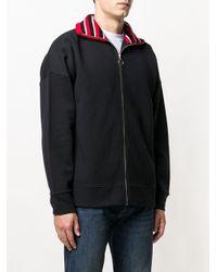 Tommy Hilfiger - Black Knit Collar Sweatshirt for Men - Lyst