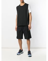 Dima Leu - Black Contrast Zip Tank Top for Men - Lyst