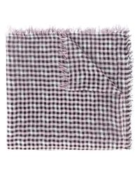 Faliero Sarti - Black Checked Scarf - Lyst