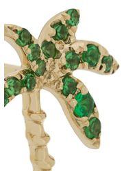 Yvonne Léon - Green 18kt Gold And Tsavorite Palm Tree Earring - Lyst