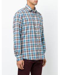 Etro | Blue Plaid Shirt for Men | Lyst