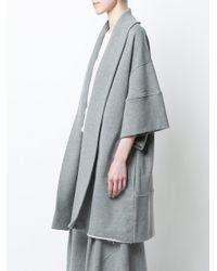 Osklen - Gray Oversized Cardigan - Lyst