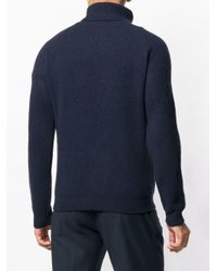 Zanone - Blue Turtleneck Sweater for Men - Lyst