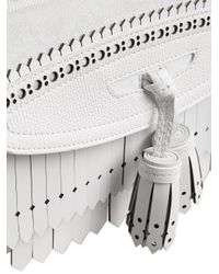 Burberry - White Medium Banner With Brogue Detail - Lyst