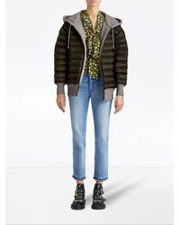 Burberry - Green Reversible Hooded Bomber Jacket - Lyst
