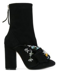 N°21 | Black Embroidered Ankle Length Boots | Lyst