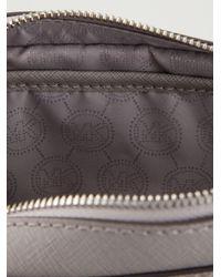 Michael Kors - Gray Jet Set Leather Cross-Body Bag - Lyst