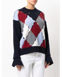 Mrz - Blue Diamond Cut-out Detail Sweater - Lyst