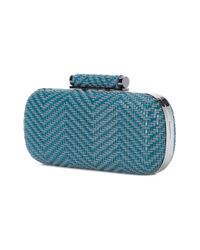 Inge Christopher - Blue Small Woven Clutch Bag - Lyst